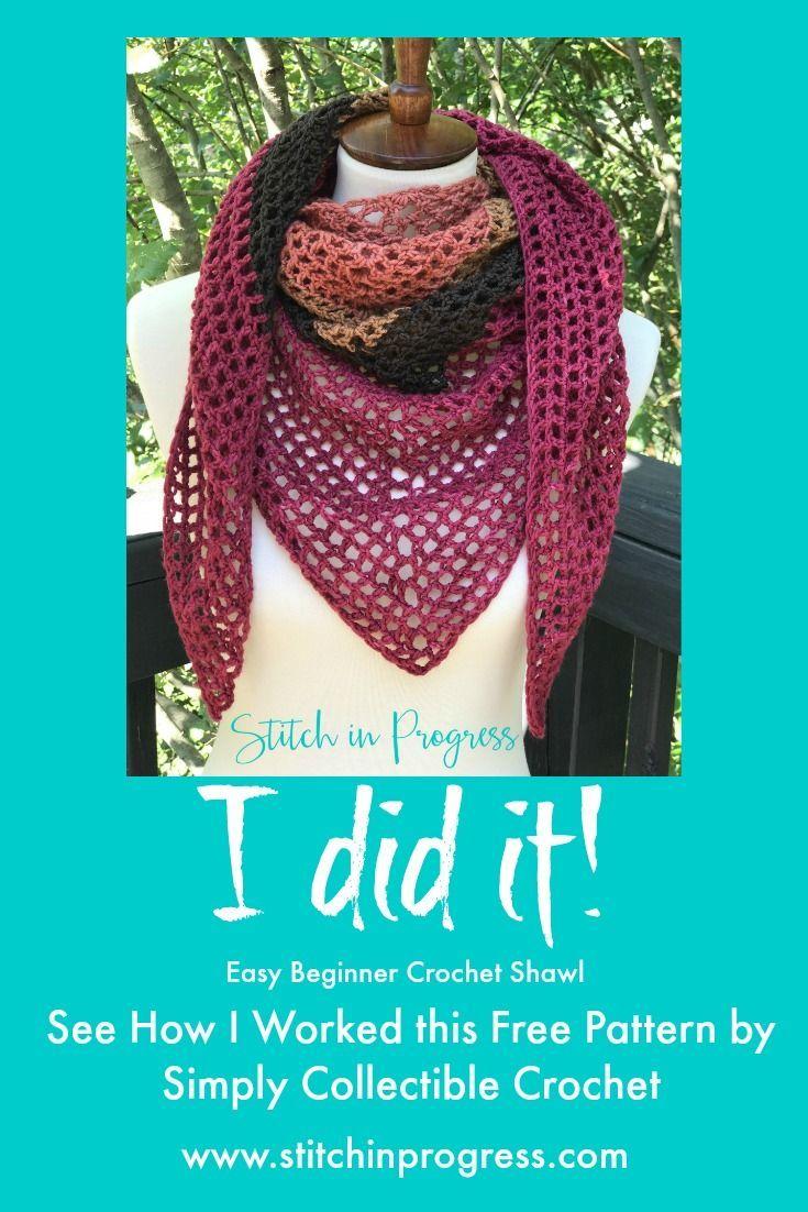 Easy beginner crochet shawl i did it easy crochet shawl easy beginner crochet shawl i did it bankloansurffo Choice Image