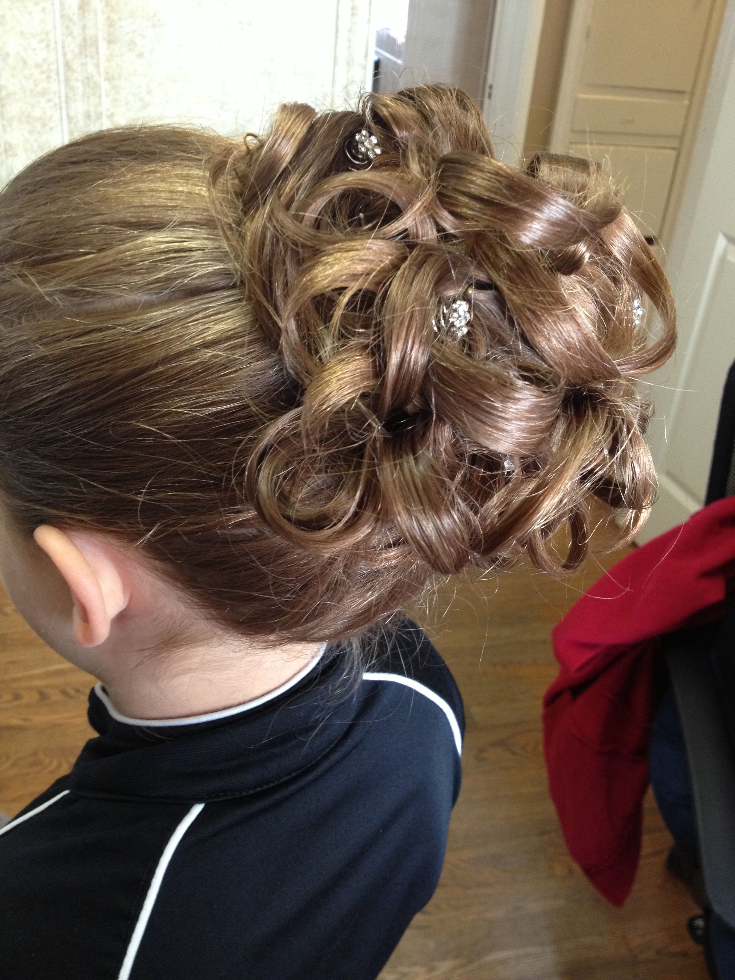 little kid updo   hair by me in 2019   hair styles, flower