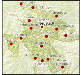 Gemeinde Und Touristinformation Titisee Neustadt Im Hochschwarzwald Black Forest Germany Footprint