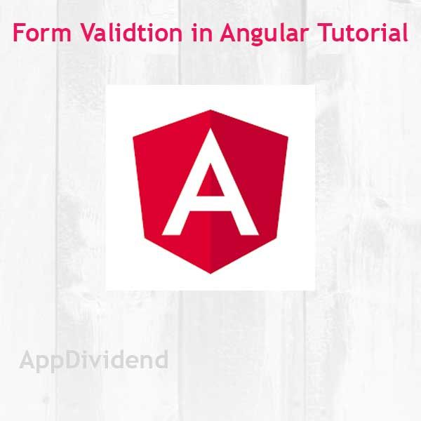 Angular Form Validation Example Tutorial | AppDividend