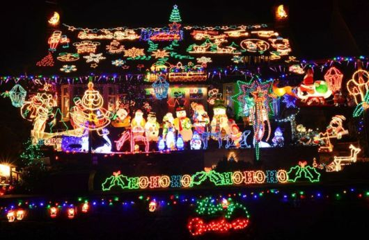 Dazzling Display Of Christmas Lights | Christmas, Lights, Their, House, Display