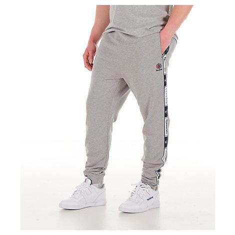 214d91571a865f REEBOK MEN'S CLASSICS FRENCH TERRY TAPED JOGGER PANTS. #reebok #cloth