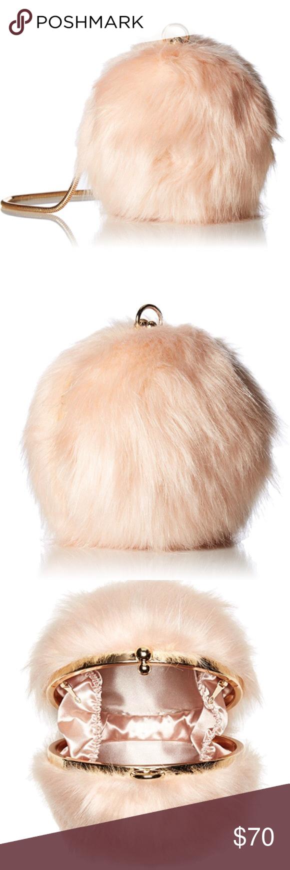 eaf8c3ae6b ALDO faux fur Crossbody pink NWT ALDO faux fur Crossbody with chain ...