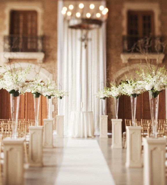 Civil Wedding Ideas: Indoor Ceremony Decorations