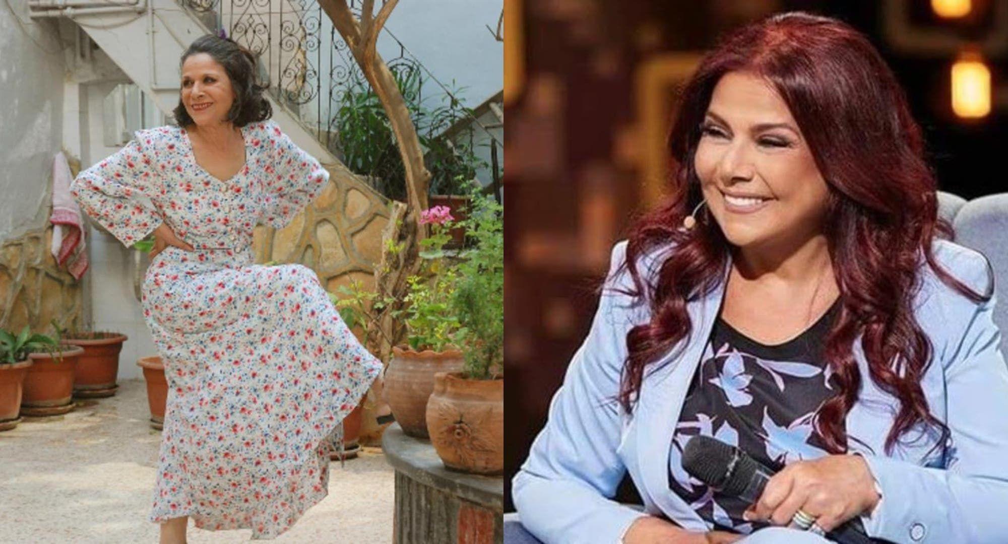 صباح الجزائري تنشر صورة إلى جانب شقيقتها سامية وابنتها رشا التقي Beautiful Actresses Fashion Shoulder Dress
