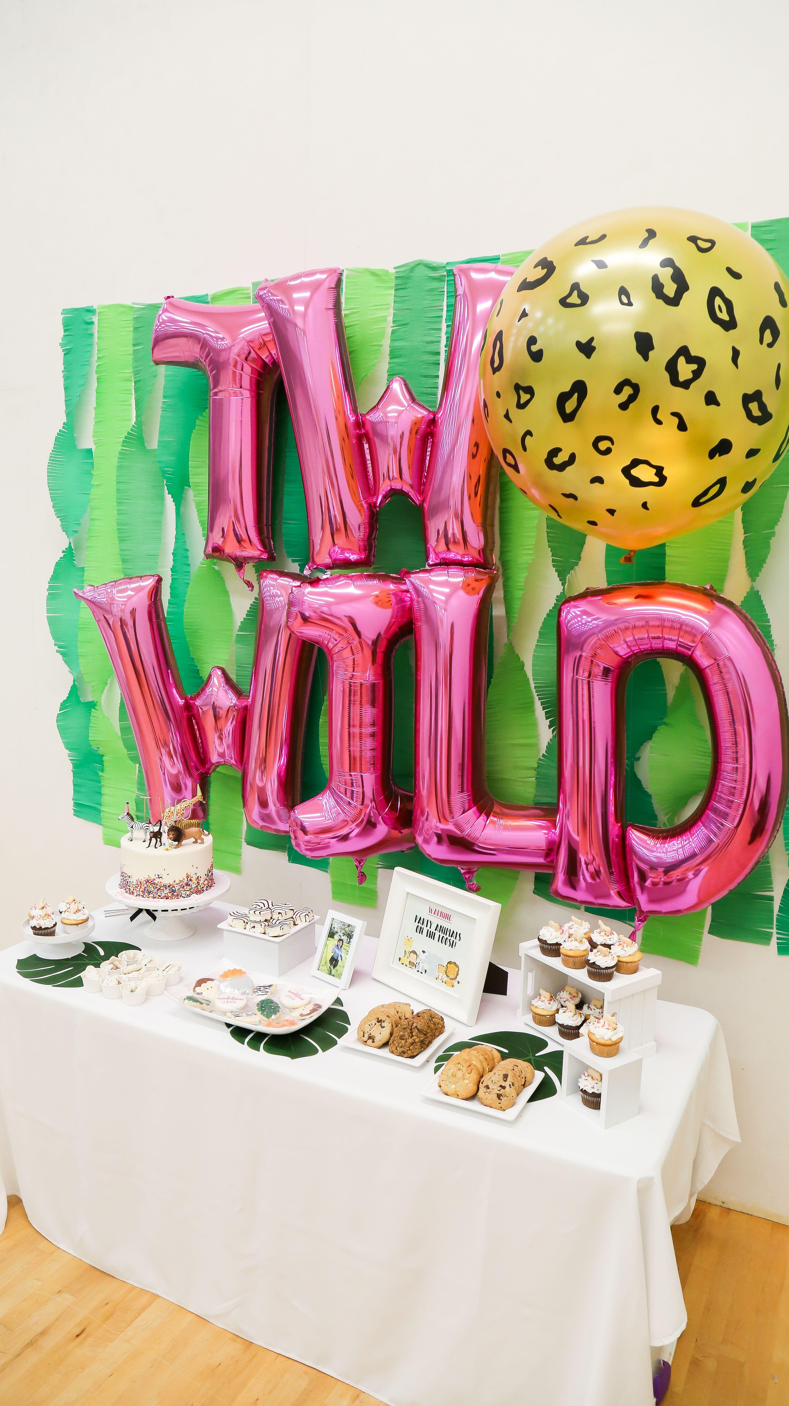 Animal Party Safari Theme Wild Birthday Party Animal Themed Birthday Party Zoo Birthday Party