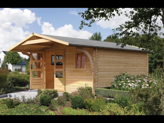 Das Karibu Gartenhaus »Nordhamm 2 + Vordach« ist ein