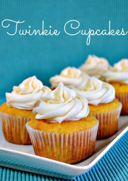 Twinkie Cupcakes Recipe  Hot From My Oven is part of Twinkie cupcakes -