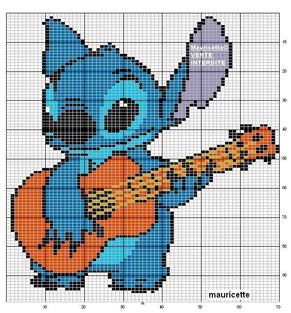 Minecraft Pixel Art, Puzzle, Ukulele, Pixel Art Templates, So Cute, Stitches