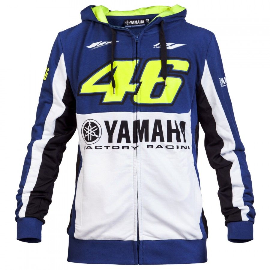 Bike It Motorcycle Official Valentino Rossi 46 VR46 Men/'s Fleece Hoodie White