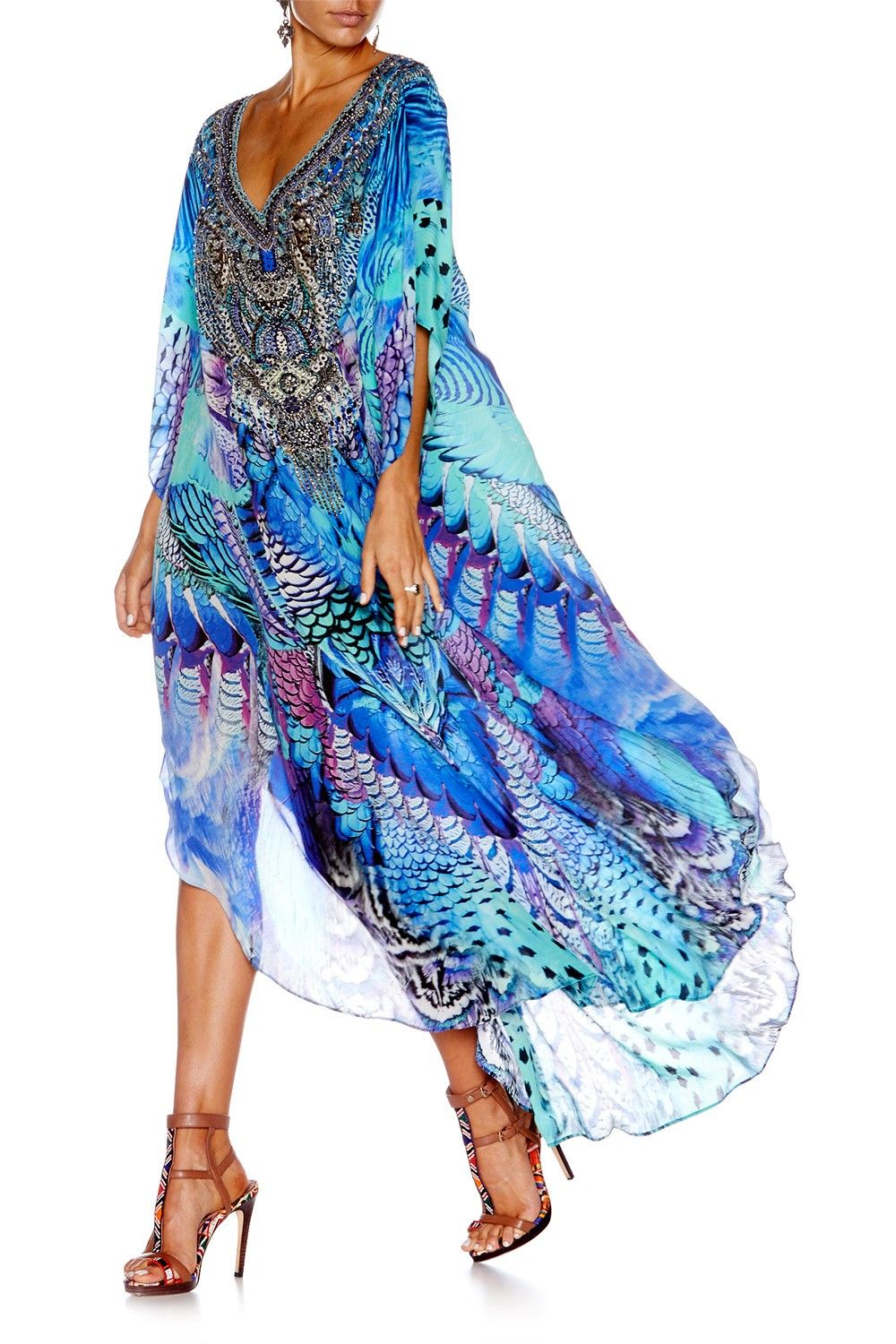 Moon dance long vneck kaftan bohemian dresses pinterest kaftan