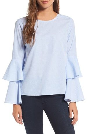 tops with ties and statement sleeves | nordstrom sale