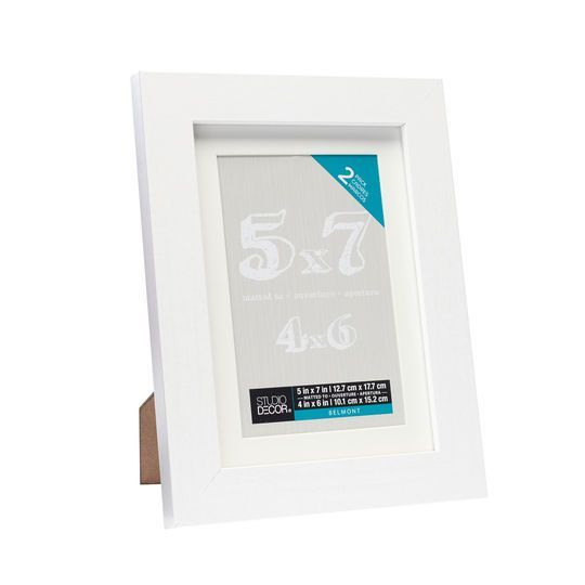 2-Pack White Belmont Tabletop Frame With Mat by Studio Décor, 4\