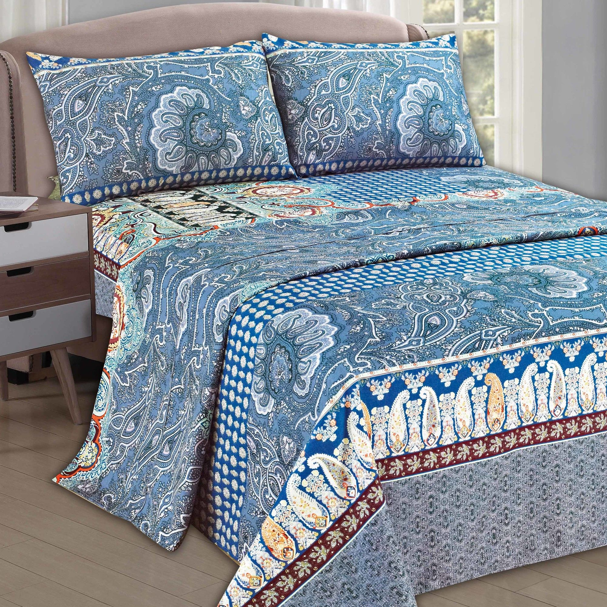 Paisley monarch thread count sheet set thread count