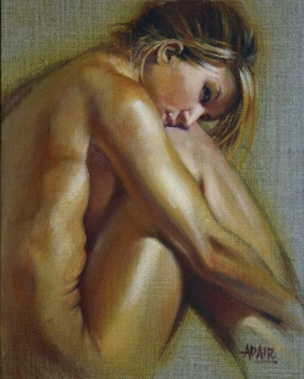 'Blonde' by Pauline Adair Oil on Linen Size 10 x 8 inches