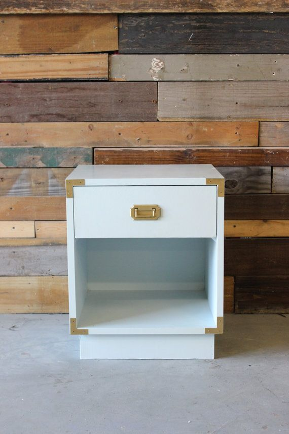 Campaign Style End Side Accent Table Nightstand By SoLoMarket
