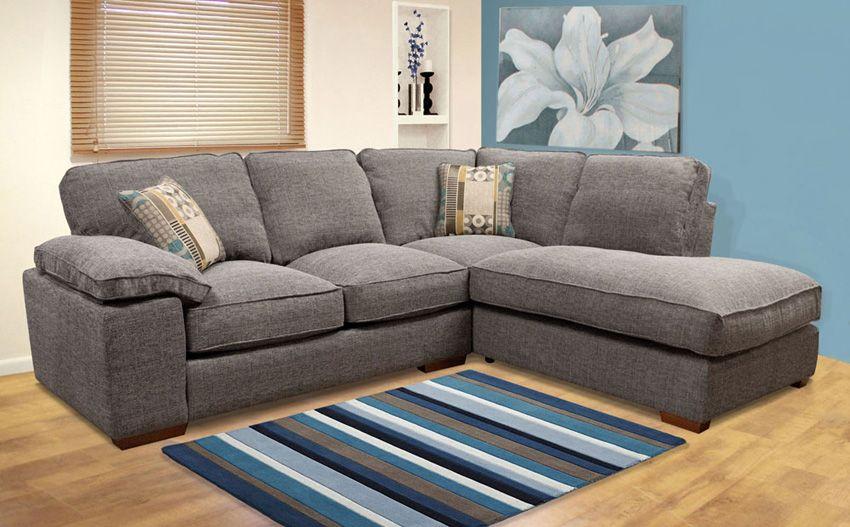 Buoyant Langden Grey Fabric Corner Sofa Cojana S