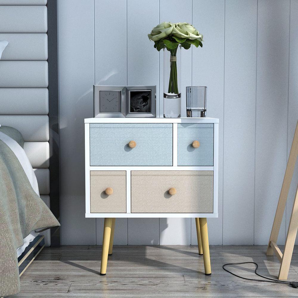 Retro Wooden Bedside Table Modern Design Contemporary