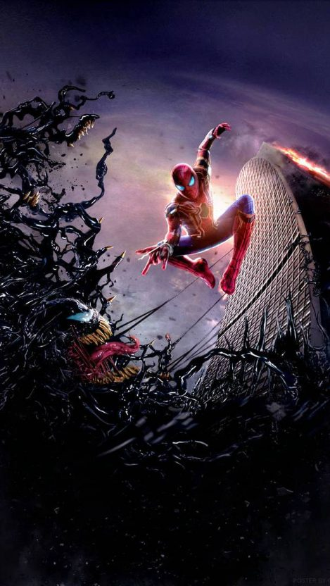 Spider Man vs Venom iPhone Wallpaper Heróis marvel