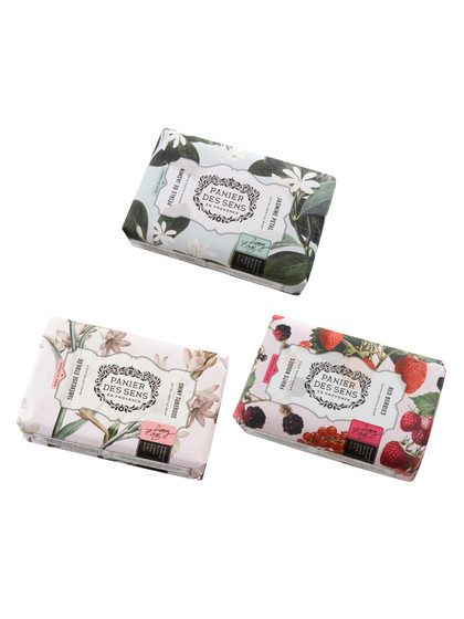 Authentic Soap Set (Shiny Tuberose, Red Berries and Jasmine Petal) by Panier Des Sens at Gilt