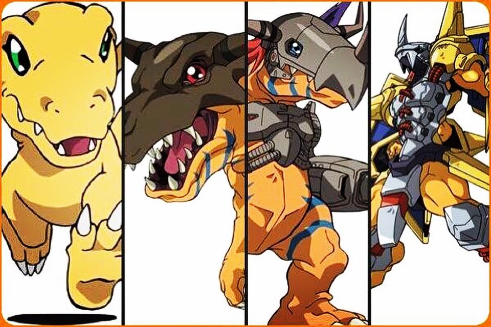 digimon adventure agumon evolutions