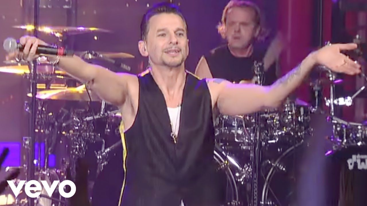 depeche mode enjoy the silence live on letterman delons музыка musique und culte