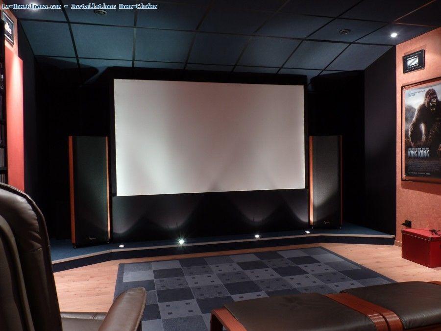 Ma salle blue heaven installation salon home theater home cinemas et home theater - Salle cinema maison ...