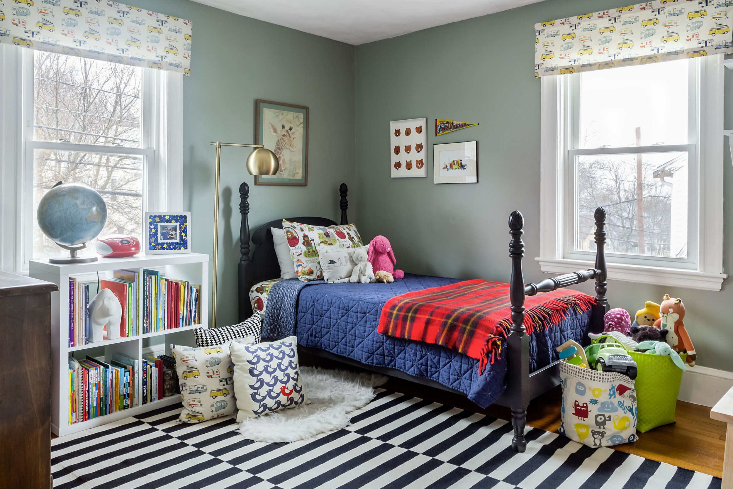 Green Blue Kids Room Photograph By Jourieh Hage