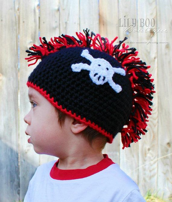 Instant Download PDF Mohawk Hat PATTERNskull and by BizeeB, $3.50 ...