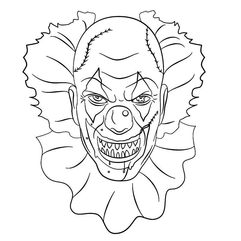 Coloring Book For Adults Halloween Coloring Book Clown Paintings