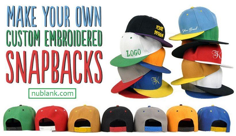 Nublank Custom Hats Nublank Caps Custom Embroidered Hats Snap Logo Hats