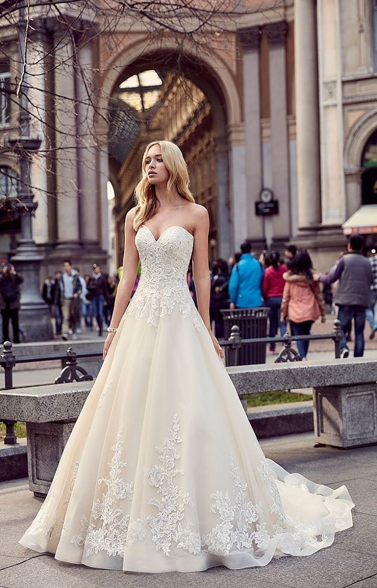 Eddy K Milano Style MD204 - Sleeveless, Ball Gown tulle wedding dress | itakeyou.co.uk #weddingdress #wedding #weddingdresses #weddinggown #bridalgown #bridaldress #weddinggowns #engaged