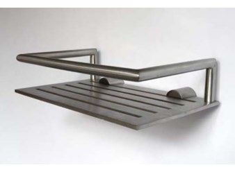 SHOWER SHELF Designer Bønnelycke Mdd Material Stainless Steel - Brushed stainless steel bathroom accessories