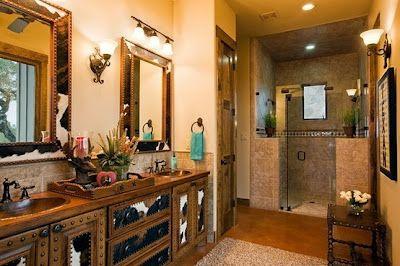 Western Bathroom Choosing A Paint Color Stylish Western Home Decorating Western Bathrooms Ranch House Designs Ranch House