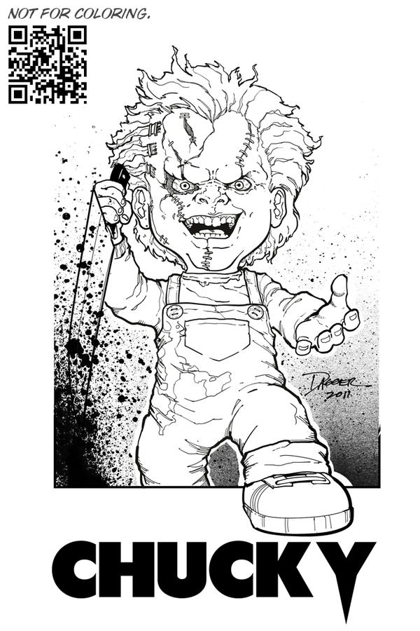 Chucky Chucky Drawing Chucky Coloring Books