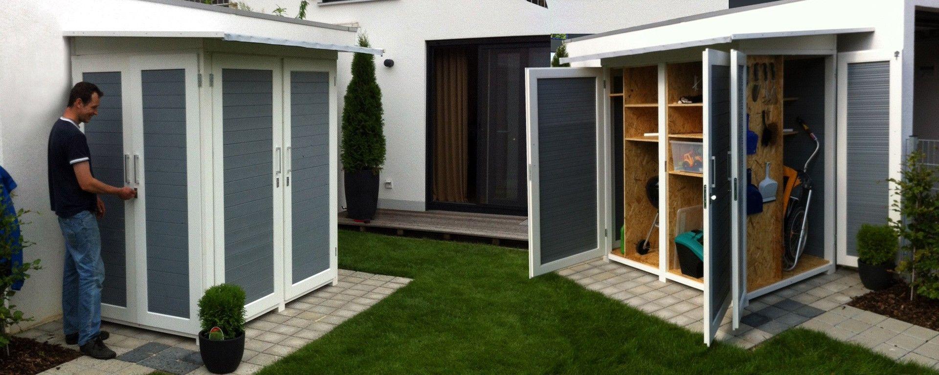 Geräteschuppen modern mit Pultdach. Der Garten[Q]Kompakt