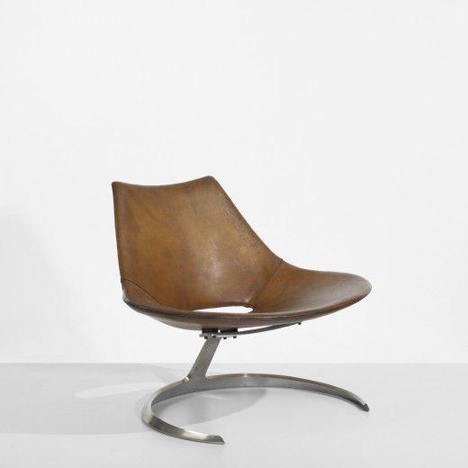 Preben Fabricius & Jorgen Kastholm.  Scimitar Chairs.  Denmark, 1962.