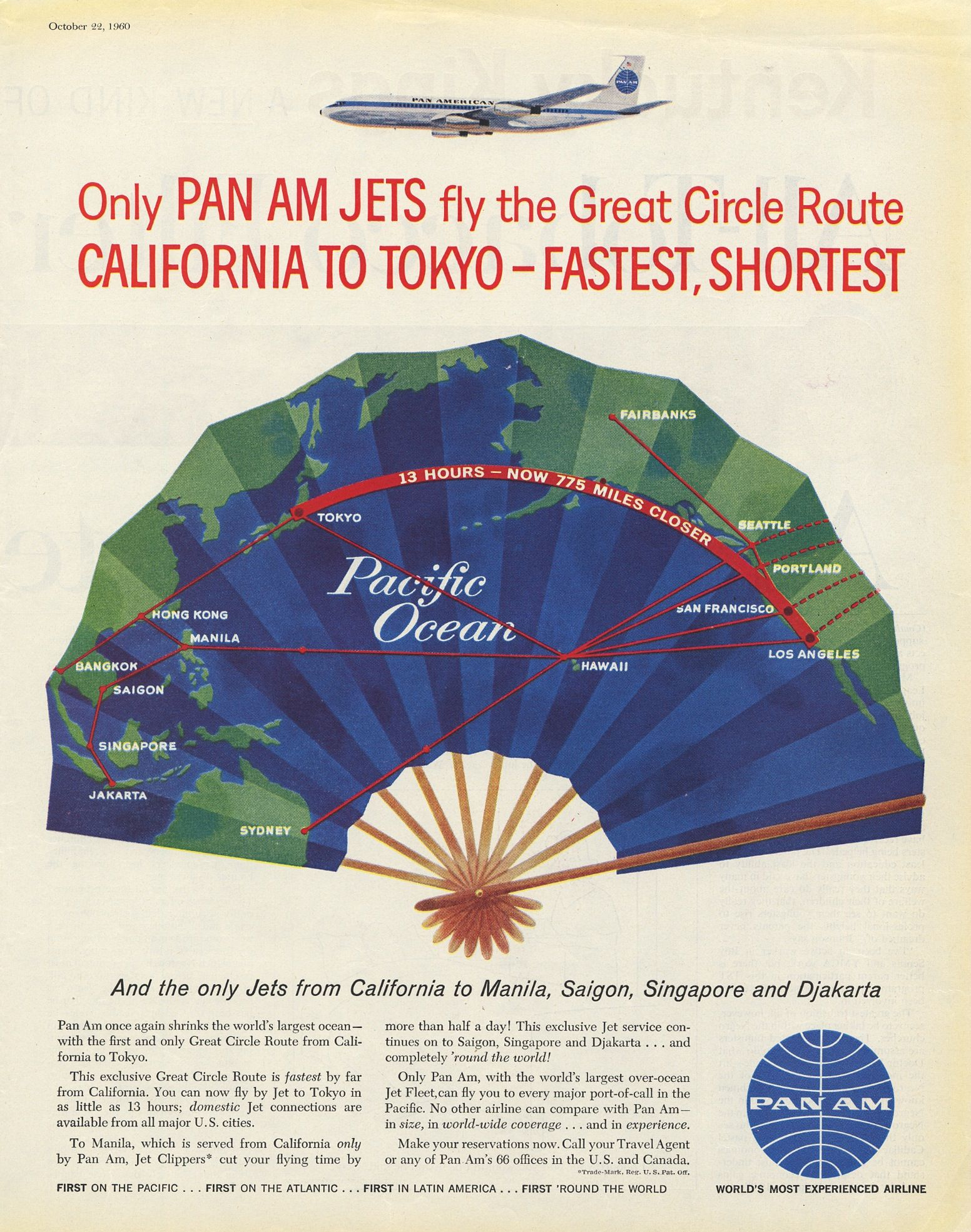 advertisement: Pan American World Airways, Saturday Evening Post | http://www.flysfo.com/