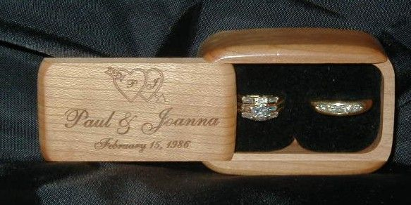 ring bearer boxes for ceremony | double wood ring box easily handled by ring bearer holds both rings ...