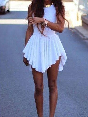 ec9408d7e2d Asymmetrical Short Sleeveless Pleated Dress