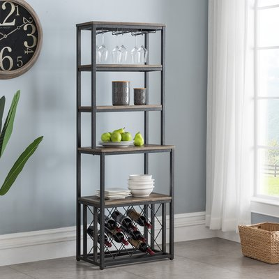 Gracie Oaks Shayna Iron Baker S Rack Bakers Rack Kitchen
