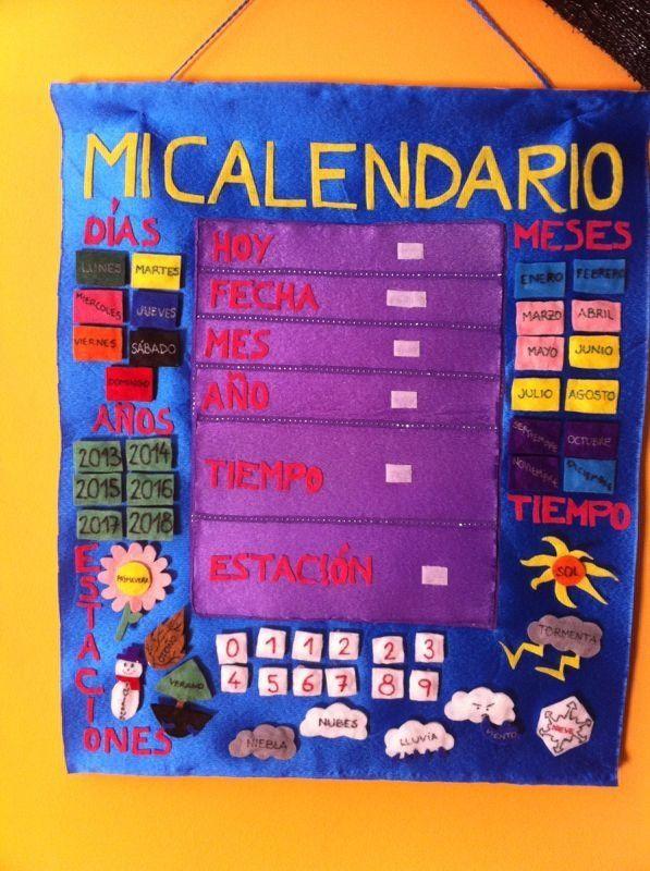 Calendario Infantil Calendario Para Niños Calendario Preescolar Calendario