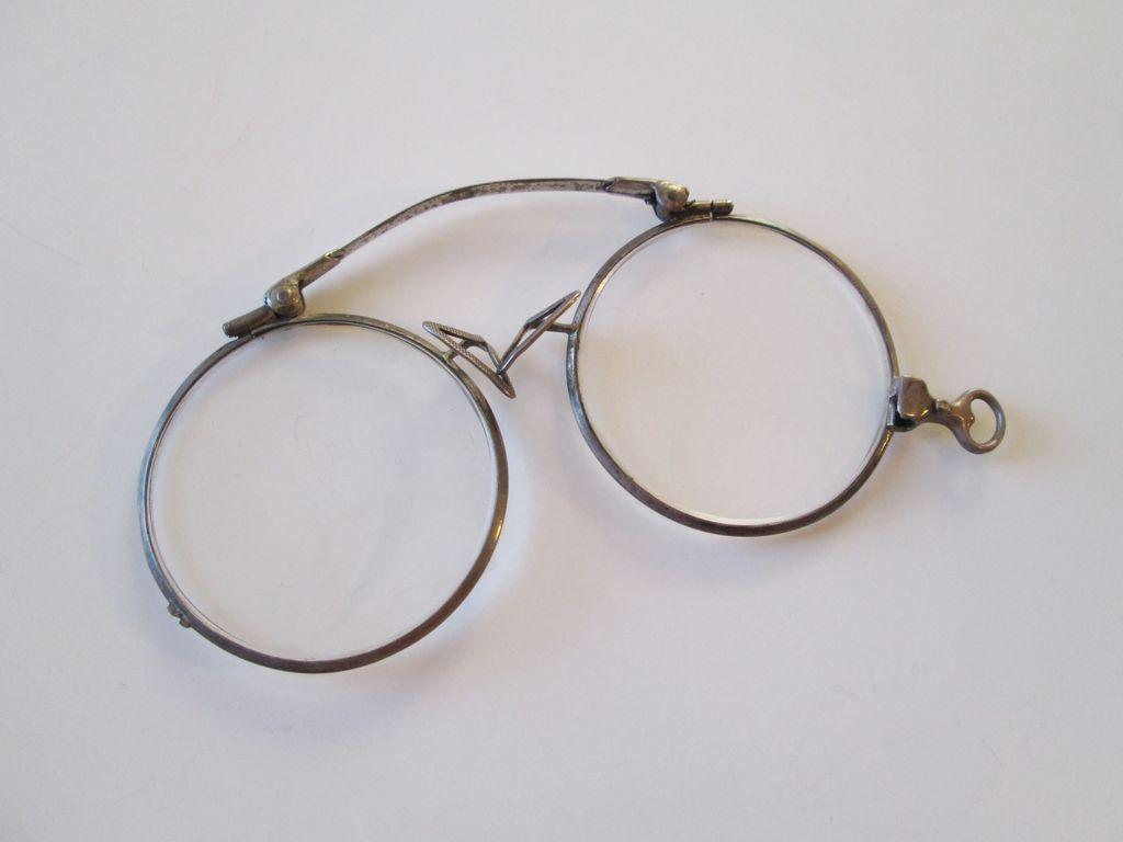 Wire Rim Glasses Vintage Pince Nez Eyeglasses Spectacles Bifocal $30 ...