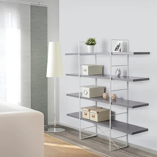 Enetri Etagere Gris Blanc Ikea Etagere Grise Ikea Mobilier De Salon