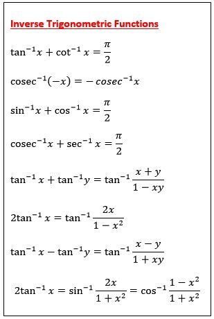 studywalk : mathematical formula : Inverse Trigonometric Functions ...