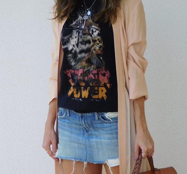 A Saia Jeans Voltou com Tudo  #gabimay #lookdodia #ootd