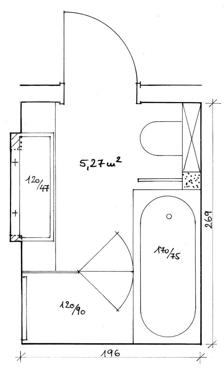 Badezimmer Grundriss Dachgeschoss #17: Grundriss Bad: Von Hansen Innenarchitektur Materialberatung