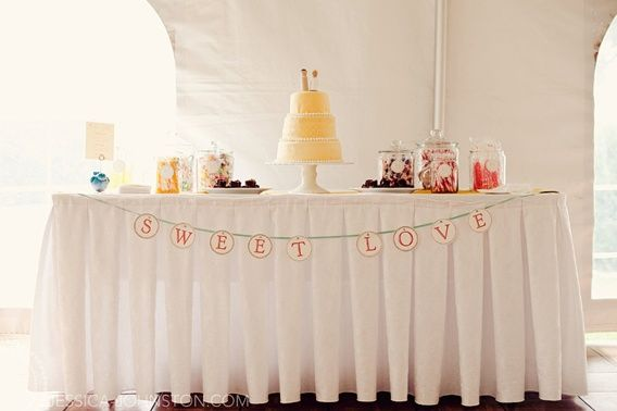 "either hung above or on the table like this..... ""sweet love""  or ""love is sweet"""