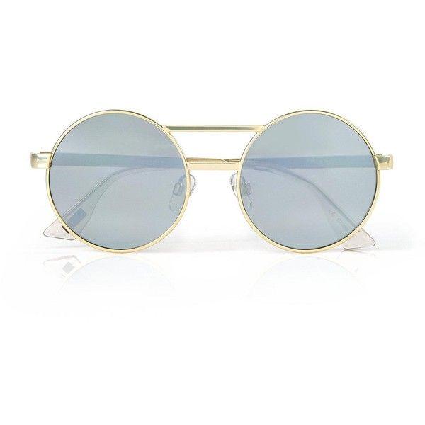 Le Specs Vertigo Sunglasses (¥8,500) ❤ liked on Polyvore featuring accessories, eyewear, sunglasses, glasses, le specs, round frame sunglasses, le specs sunglasses, round frame glasses and round sunglasses