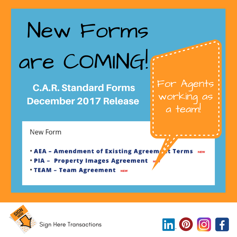 As Part Of Cars Twice Yearly Standard Forms Release There Are